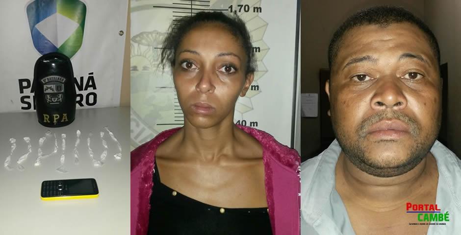 Duas pessoas são detidas com drogas no Jardim Novo Bandeirantes em Cambé