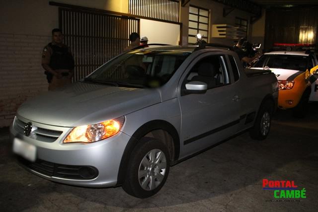 Ação rápida da Polícia Militar recupera veículo roubado em Cambé