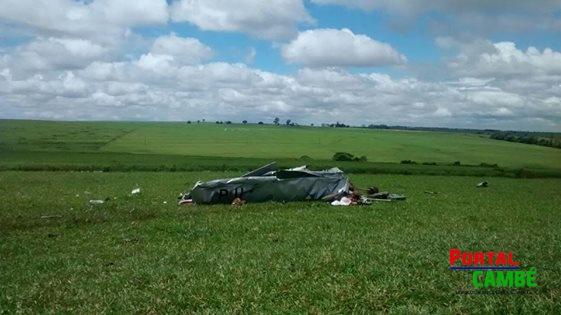 Casal morre em queda de avião na região de Cambé