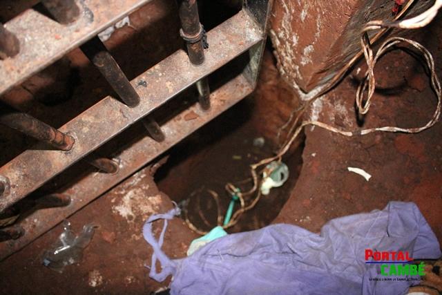 Polícia Civil de Cambé evita fuga de presos após descobrir túnel