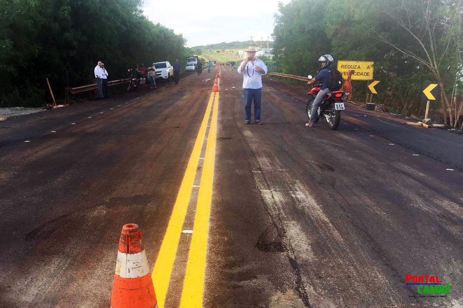 DER-PR libera ponte sobre o Rio Pirapó, na PR-317, em Iguaraçu