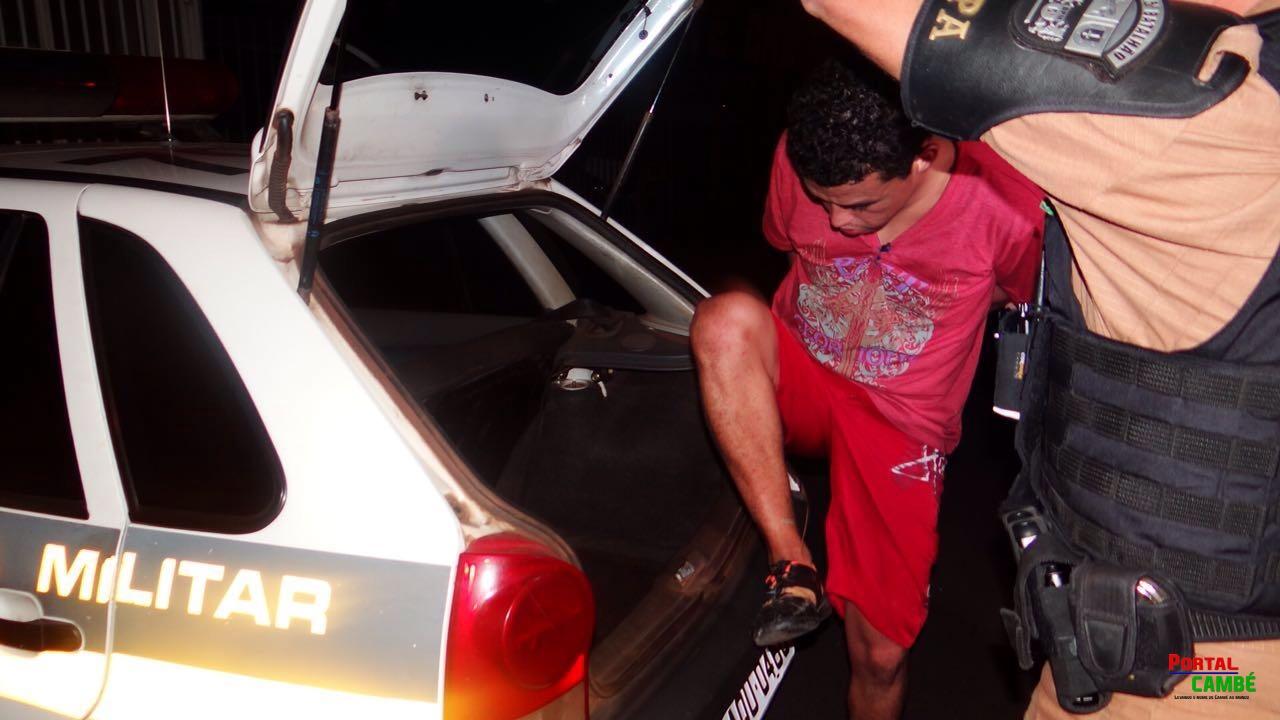 Foragido da Justiça é preso no Jardim Santo Amaro em Cambé