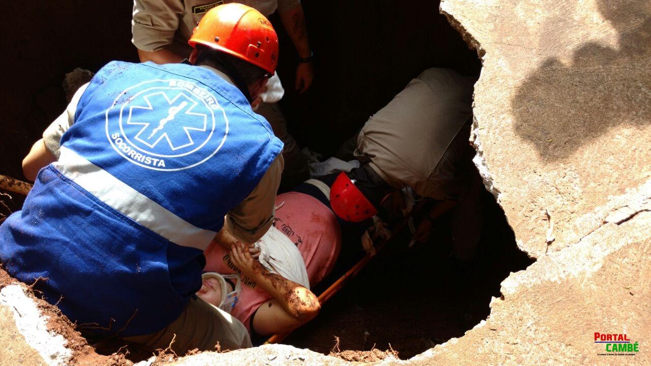 Mulher fica ferida ao cair dentro de fossa em Londrina