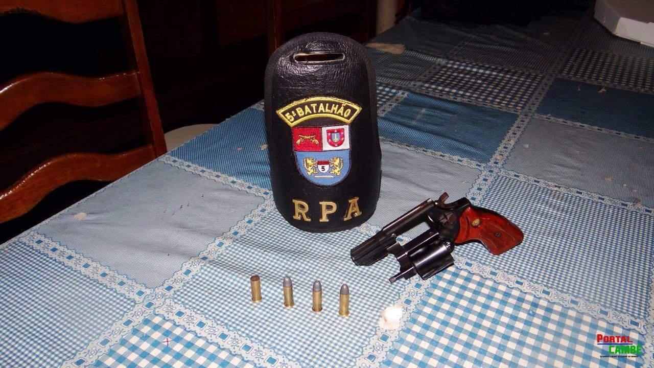 Homem ameaça familiares, dispara tiro para cima e é preso no Jardim Santo Amaro em Cambé