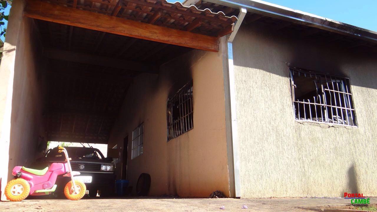 Incêndio em residência deixa cinco vítimas da mesma família em Cambé