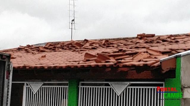 Defesa Civil contabilizam estragos causados pelos ventos e chuvas em Cambé