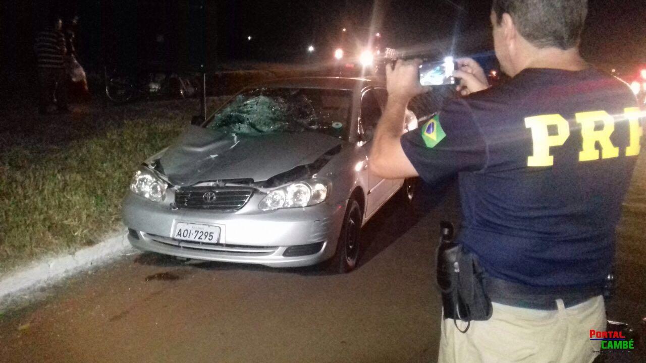 Fatalidade: Mulher morre atropelada na BR-369, na altura da Coca-Cola em Cambé, próximo de passarela