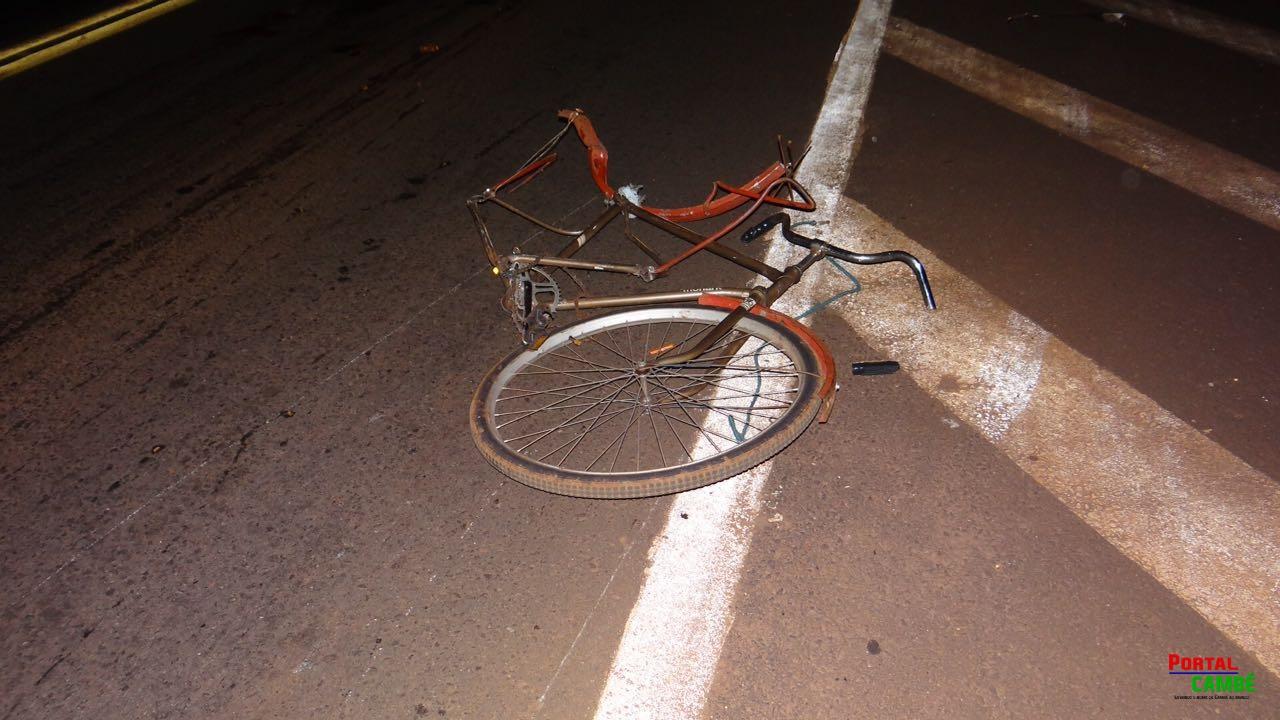 Ciclista morre após ser atropelado na PR-445 próximo a Sandoz em Cambé