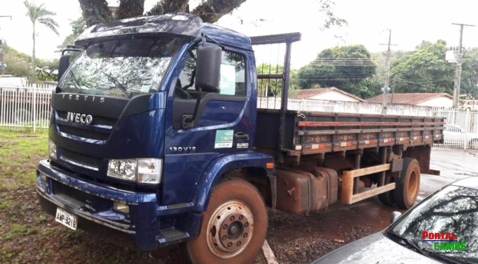 Caminhão furtado da prefeitura de Cambé é recuperado em Maringá