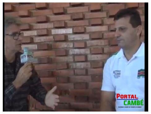 Jornalista Benê Filho realizou entreviras para apresentar o projeto Cambé Volei (Vídeo)