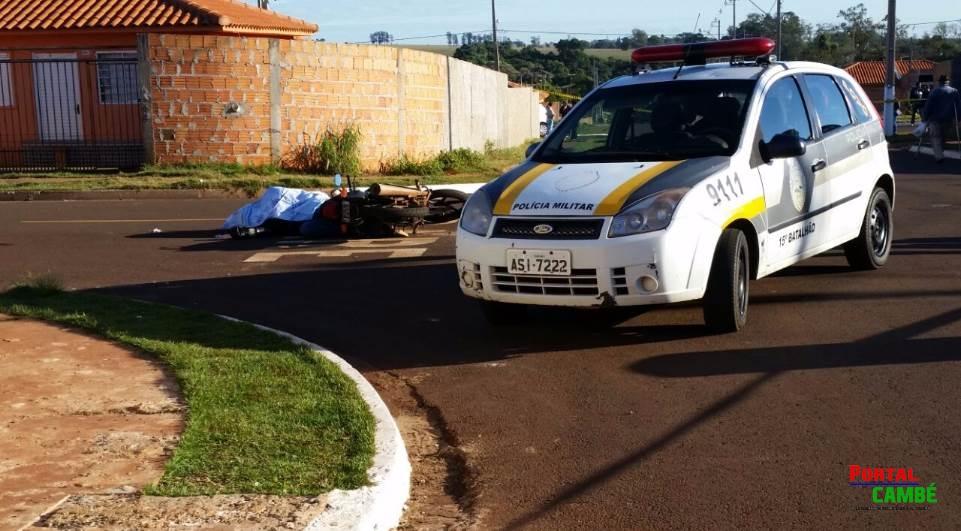 Homem é morto a tiros quando saia para trabalhar em Rolândia