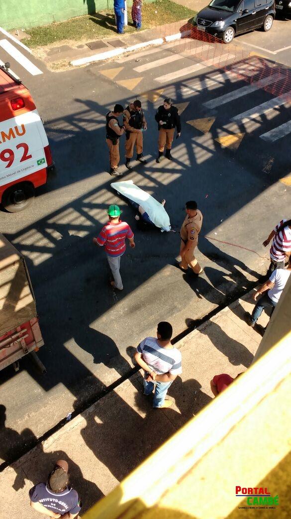 Pedestre morre atropelado por carreta na PR-445 em Cambé