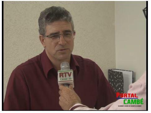 Jornalista Benê Filho entrevista o novo delegado de Cambé Dr. Roberto Fernandes de Lima