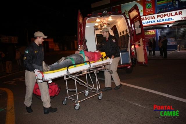 Motociclista fica inconsciente após queda no Jardim Tupi em Cambé