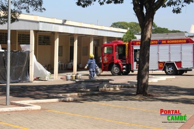 Principio de incêndio atinge cozinha de igreja em Cambé