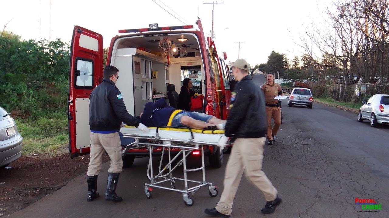 Acidente entre dois veículos deixa feridos no Residencial Golden Park em Cambé