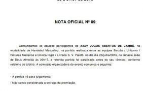 nota oficial