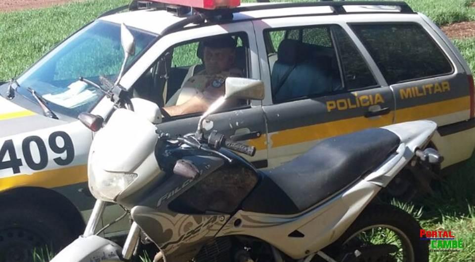 Moto roubada em Cambé é recuperada a mais de 100 km de distância