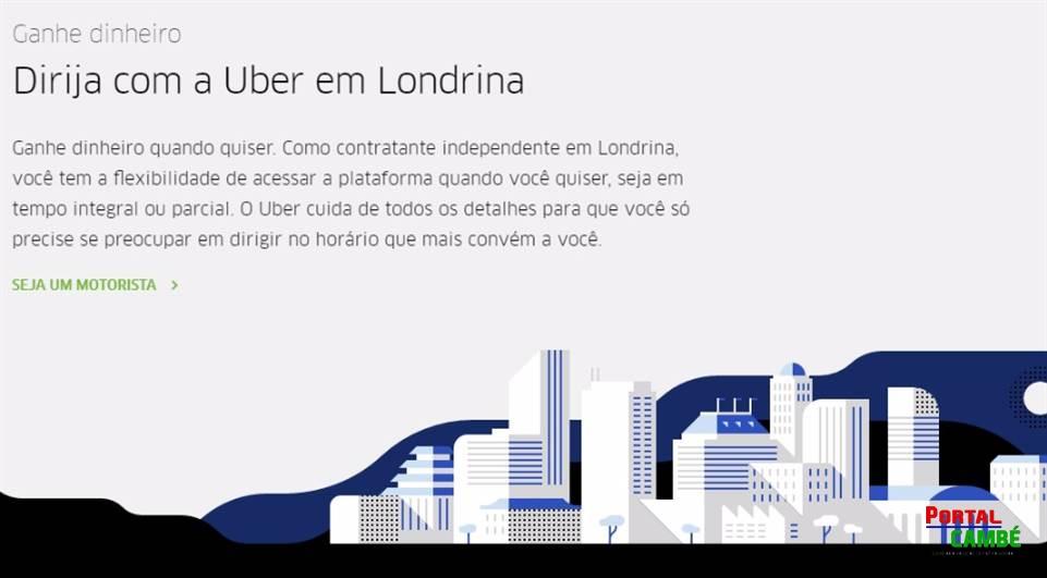 Uber já cadastra motoristas em Londrina
