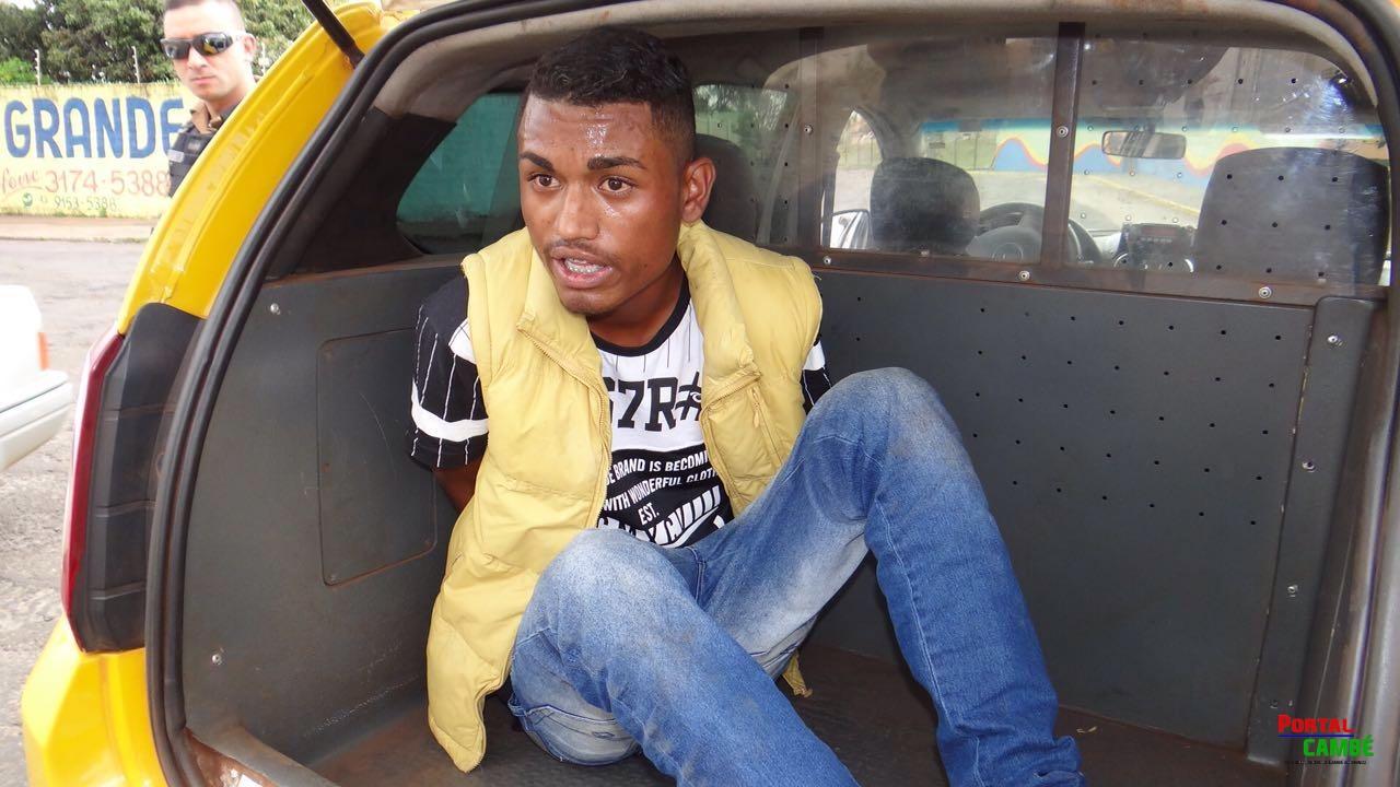 Homem com tornozeleira eletrônica é preso após duas tentativas de assalto no Jardim Ana Rosa em Cambé