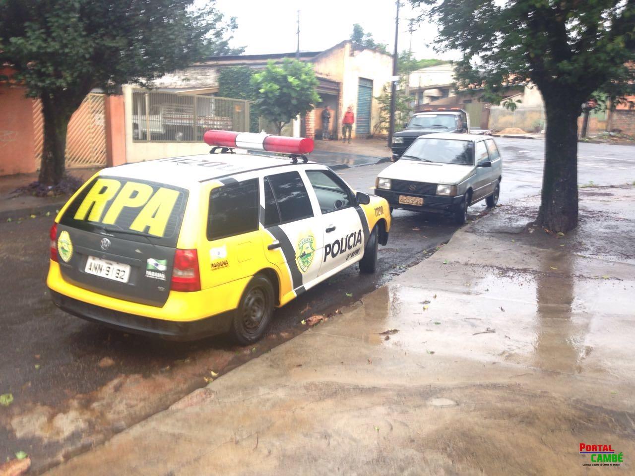 Carro furtado em Londrina é encontrado abandonado no Jardim Santo Amaro em Cambé