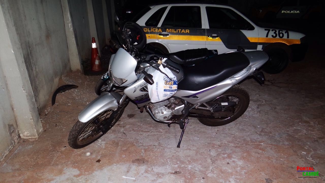 Moto roubada em Cambé é recuperada após fuga na cidade de Londrina