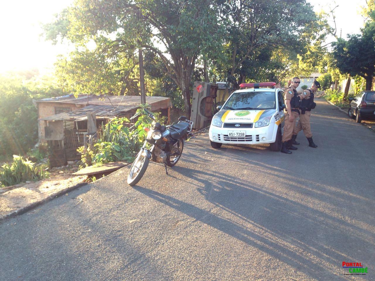 Ao desviar de criança homem colide contra poste no Jardim Ana Rosa em Cambé