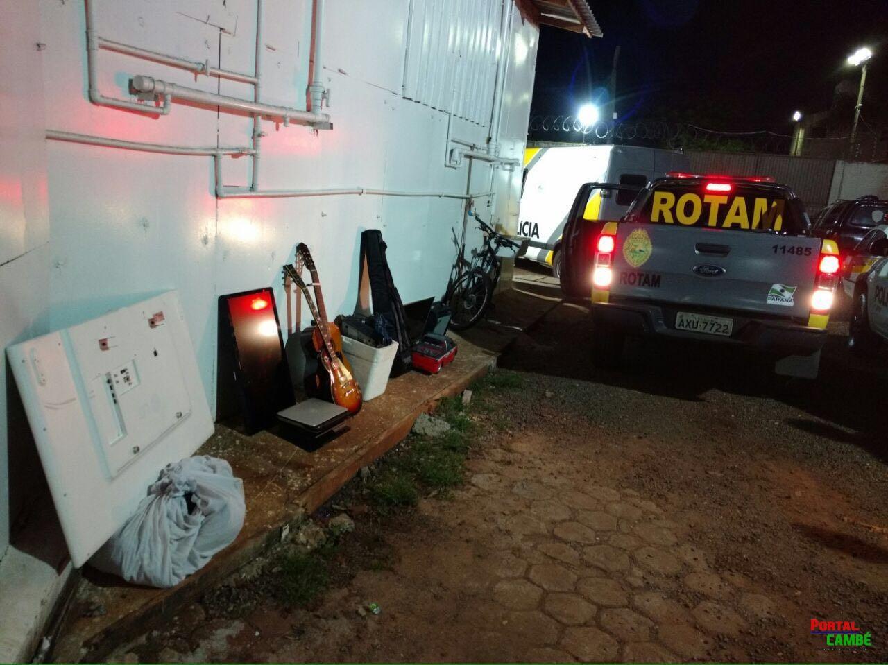 Após furto em Cambé, dois jovens são presos e veículo e objetos são  recuperados em Londrina