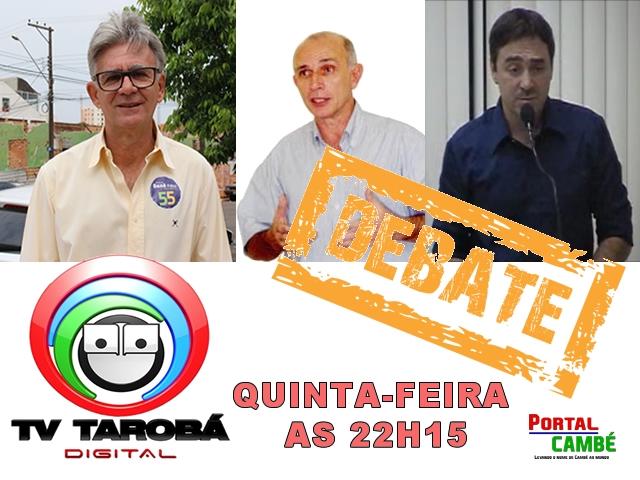 TV Tarobá fará debate com os três candidatos a Prefeito de Cambé