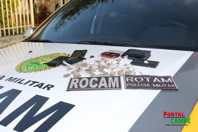 Perspicácia da Policia Militar leva a prisão três acusados de tráfico de drogas em Cambé