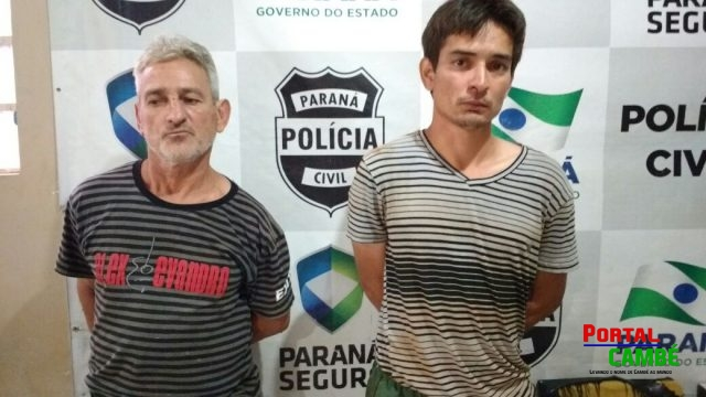 José Carlos dos Santos, 59 anos e Marcos Aurélio Menezes dos Santos, 31 anos