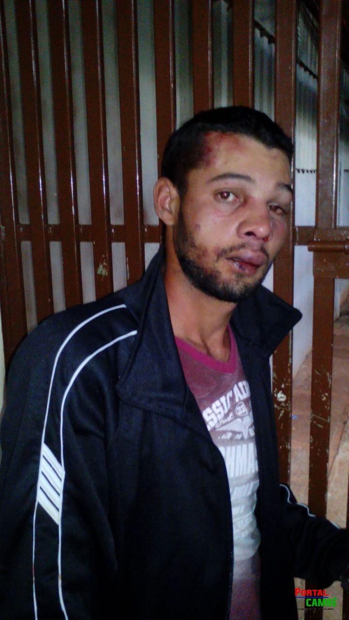 Após roubo bandido apanha de populares no Zezão em Cambé
