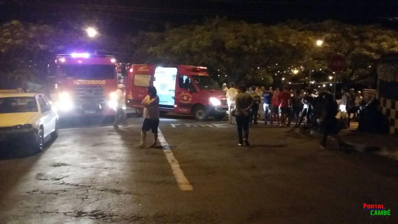 Acidente deixa jovem gravemente ferido no Cambé IV em Cambé