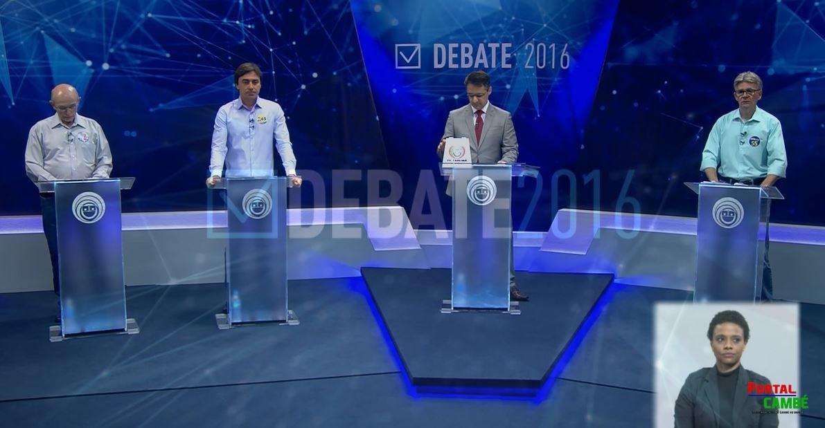 Debate entre candidatos a prefeito na TV Tarobá repercute nas rede sociais em Cambé