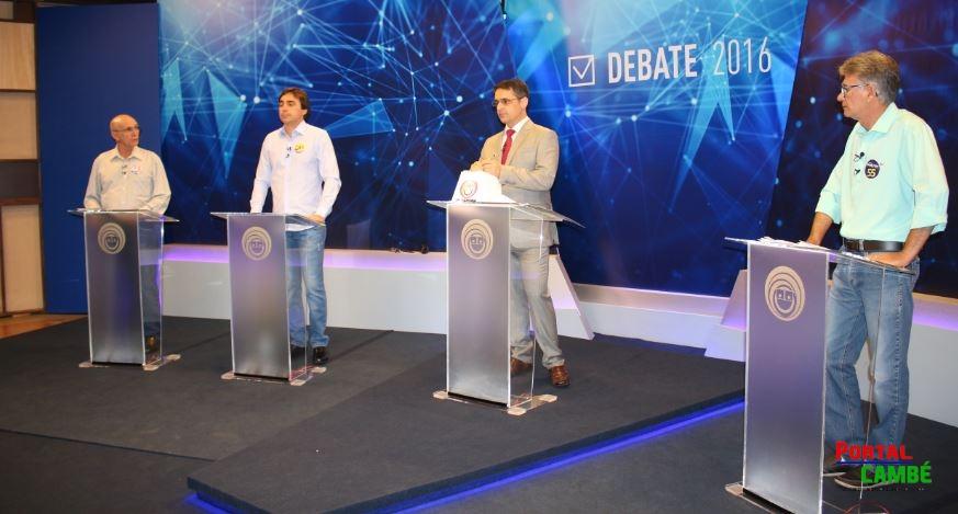 Assista na integra o reprise do debate entre os candidatos a prefeito de Cambé