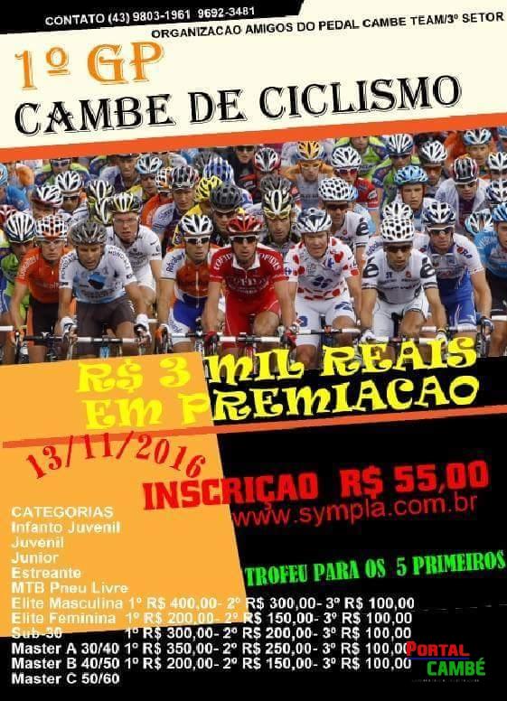 Grande Prêmio de Ciclismo será realizado em Cambé no mês de Novembro
