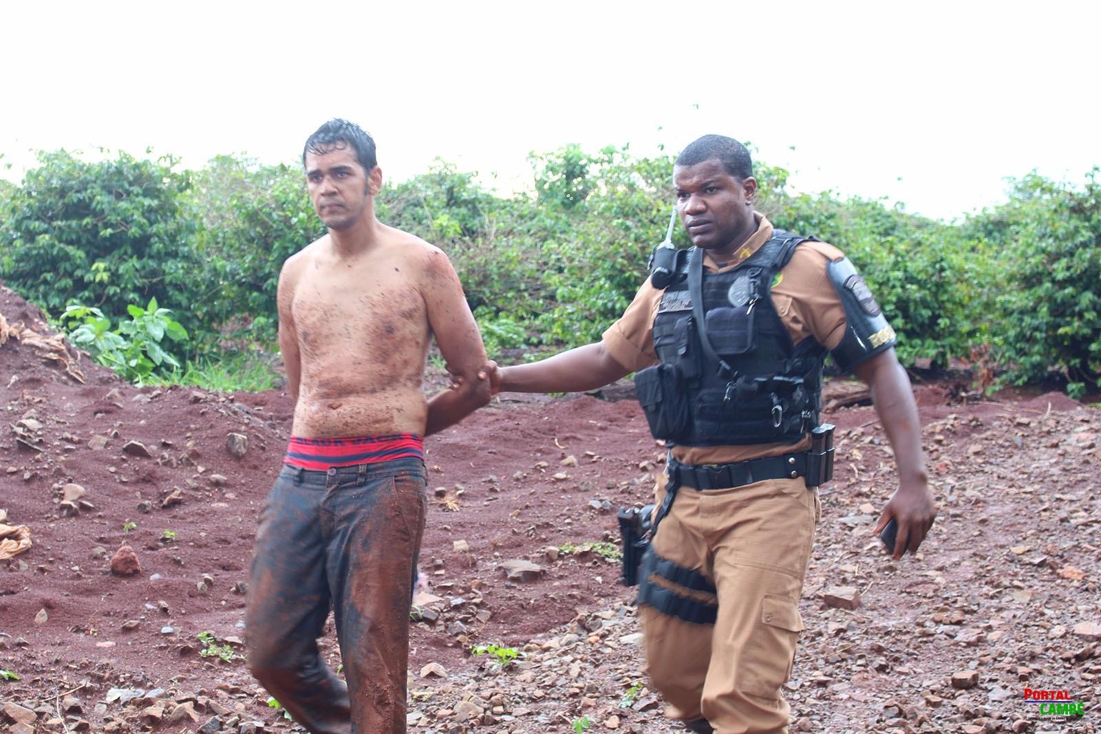 Bandidos são presos em Rolândia após assalto em PETSHOP em Cambé; Helicóptero do Graer esteve em Rolândia auxiliando nas buscas
