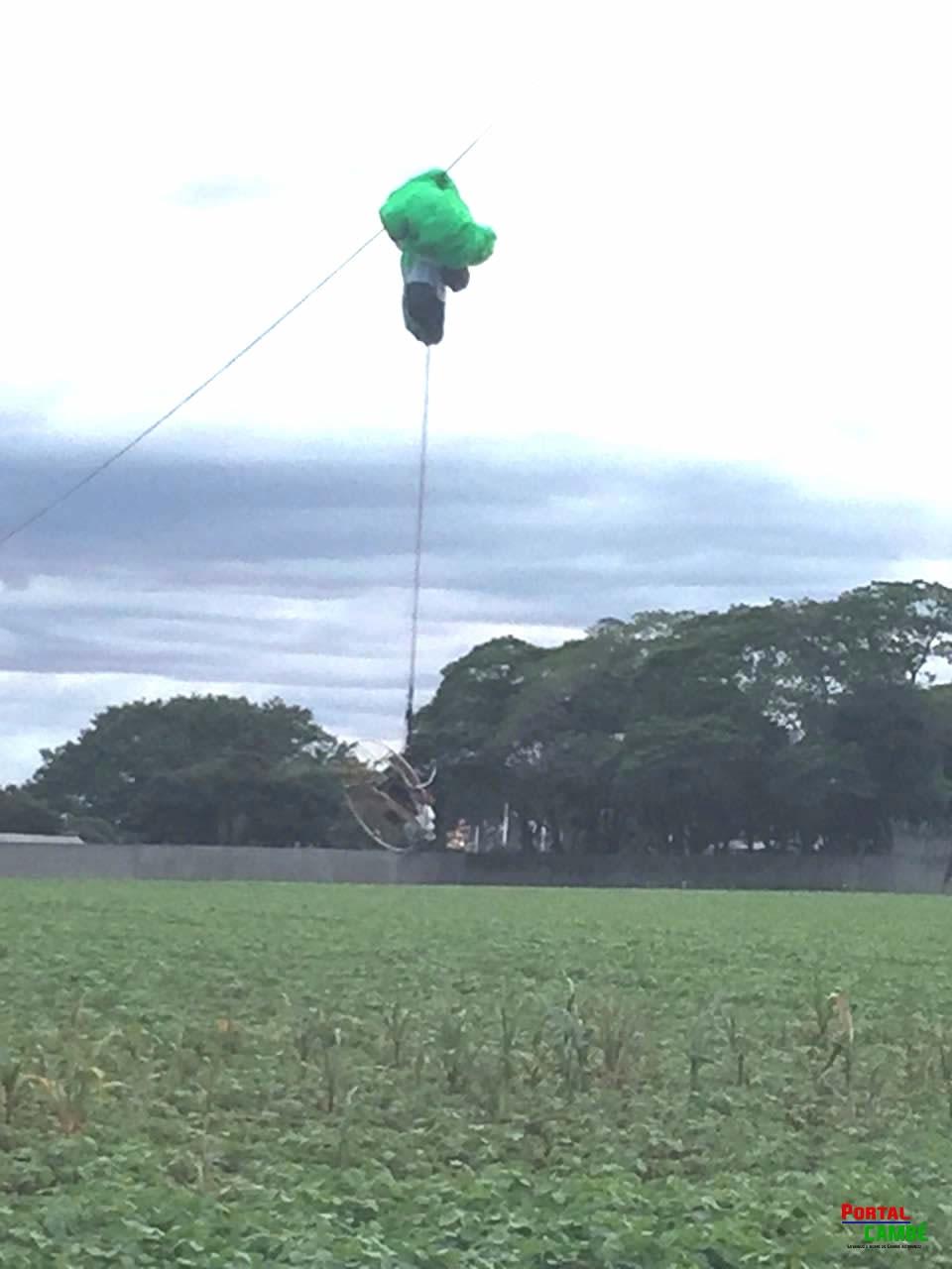 Piloto perde controle de parapente e cai em fios de alta tensão próximo ao Bratislava em Cambé