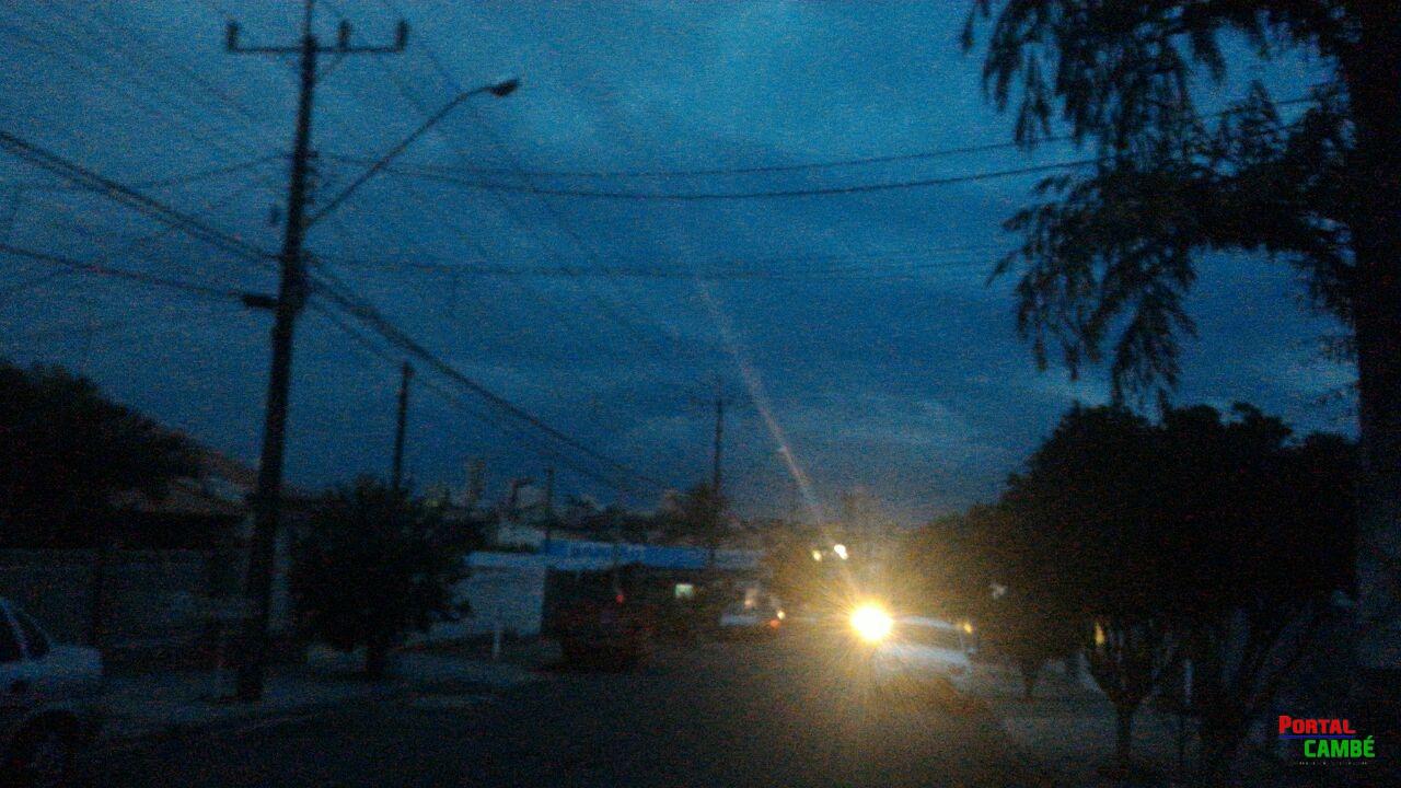 Apagão deixou grande parte de Cambé sem energia