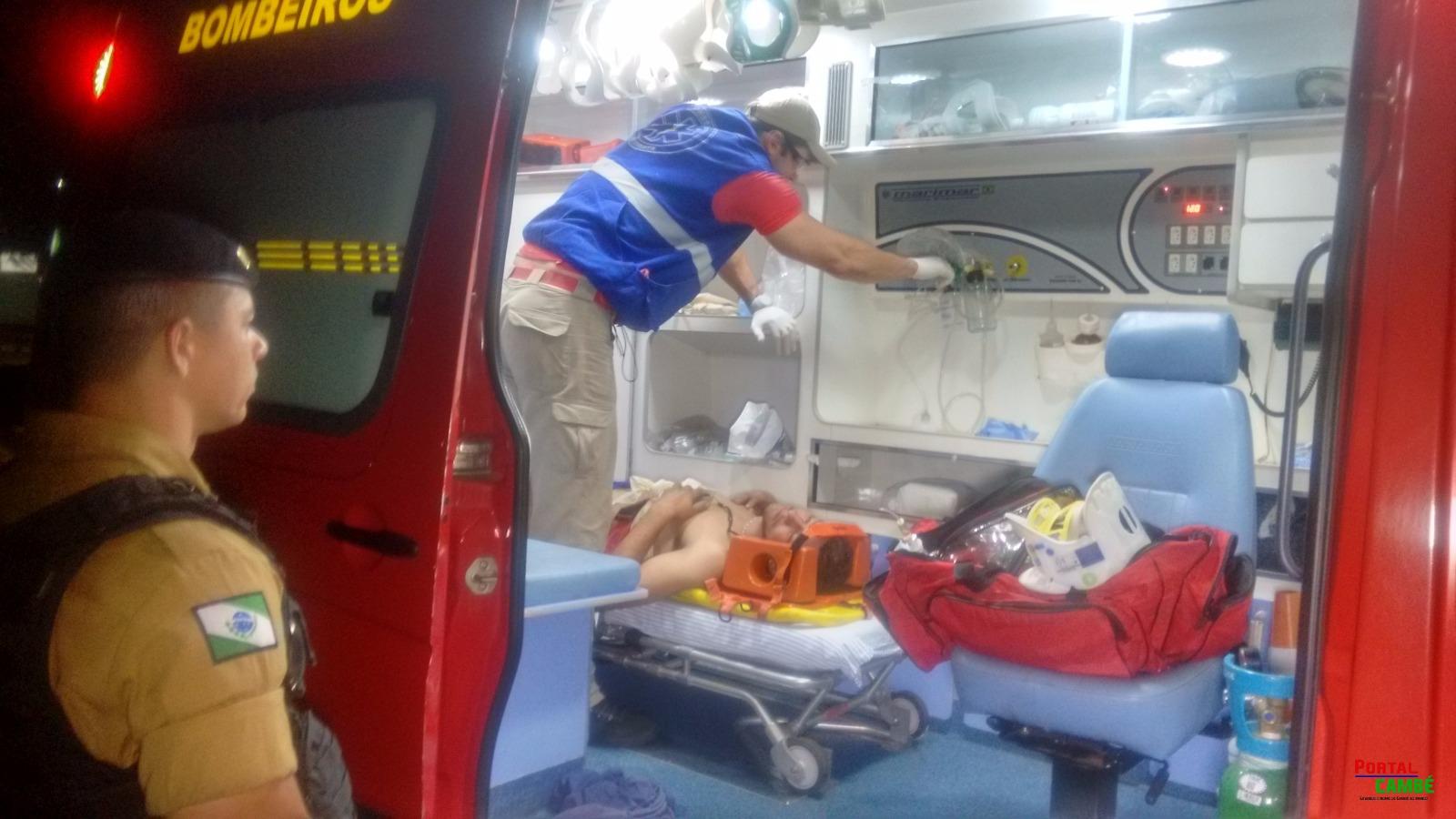 Um jovem de 25 anos foi esfaqueado pelo ex-sogro, na rua Catuaí, no Jardim do Café, em Cambé.