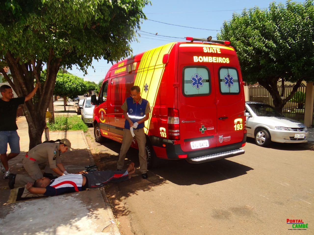 Jovem sofre uma lesão física no Jardim Riviera em Cambé
