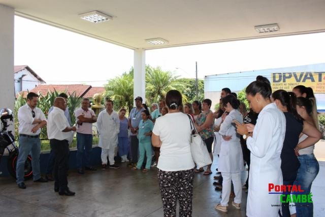 Sem receber 13º e vale alimentação funcionários da Santa Casa podem fazer nova paralisação em Cambé