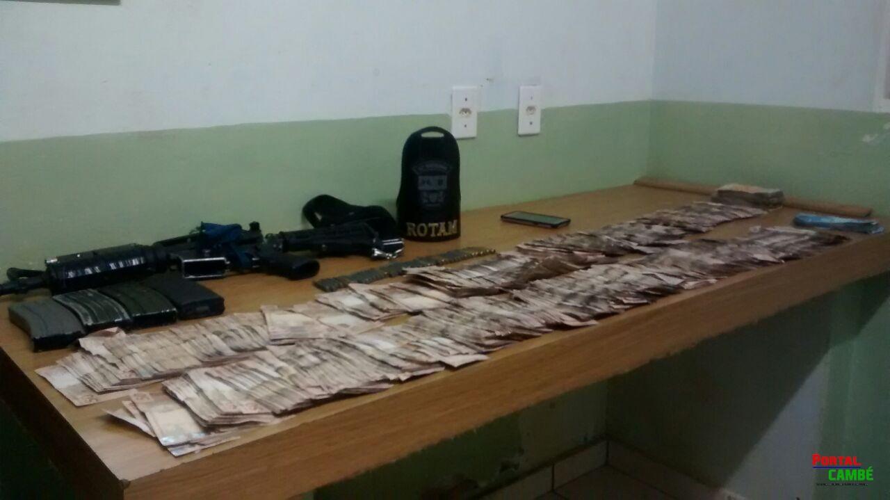 Policial é baleado em perseguição; casal deixa quase R$ 100 mil para trás