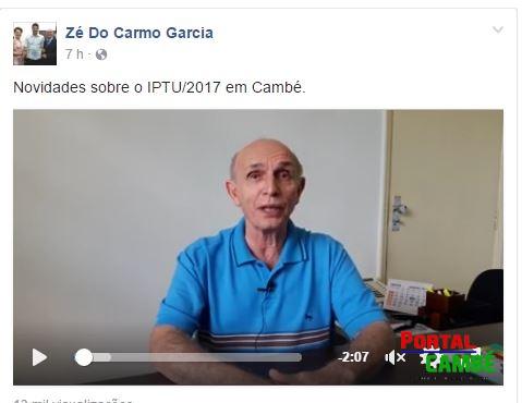 Em acordo com a justiça aumento do IPTU em Cambé deve ficar em 7,685