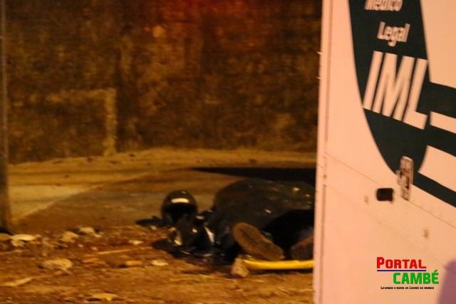 Motociclista perde a vida em acidente na Av. José Bonifácio em Cambé