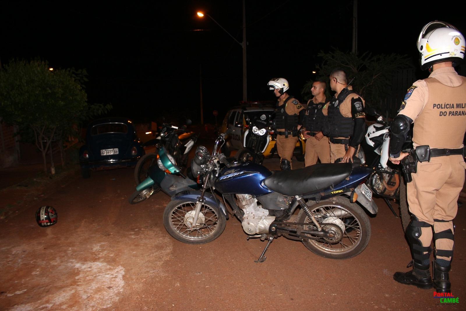 Em ação rápida Polícia Militar de  Cambé recupera motocicletas roubadas