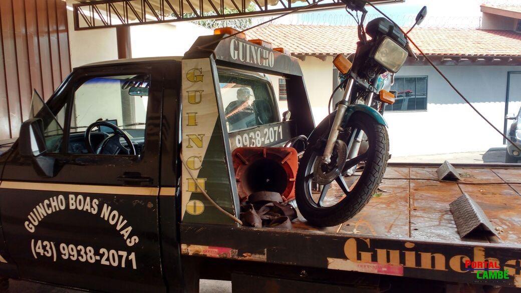 Moto furtada foi recuperada pela PM e um jovem foi preso no Jardim Santo Amaro em Cambé