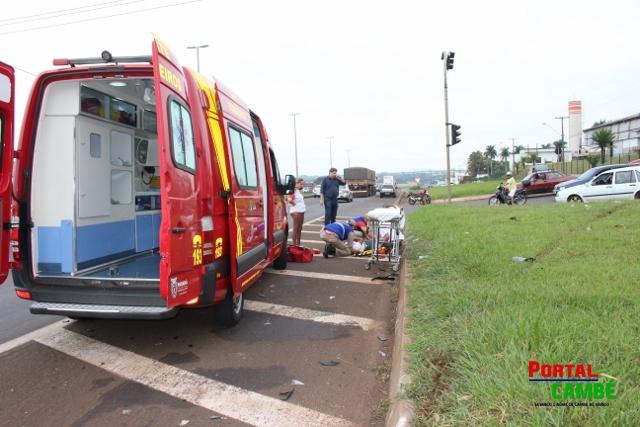 Motociclista fica ferido após colisão na BR 369 em Cambé