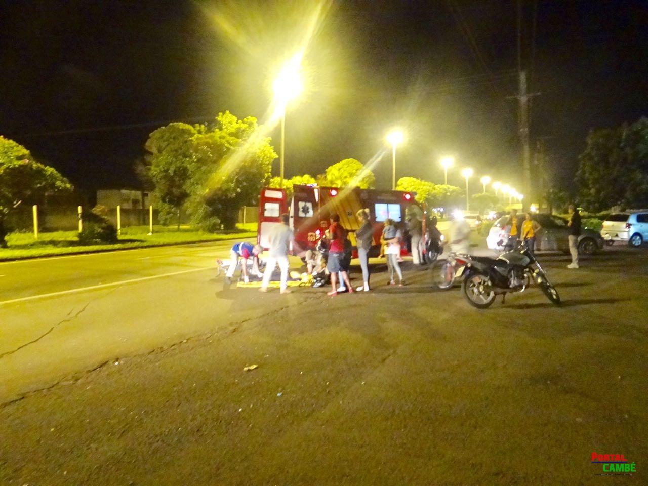 Motociclista é fechado e bate na traseira de carro na BR-369 em Cambé