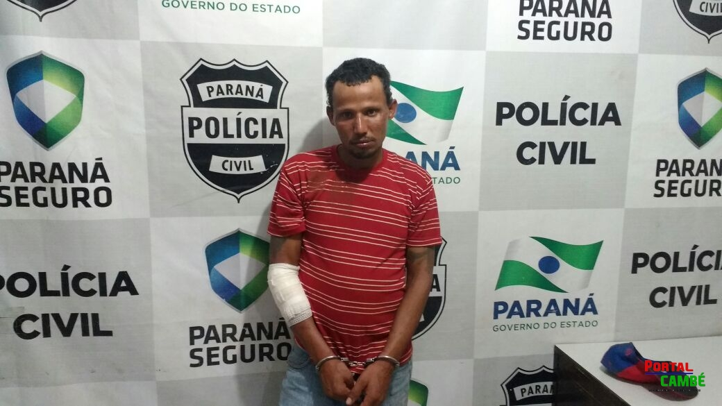 Homem com mandado de prisão é detido após ser esfaqueado em Cambé
